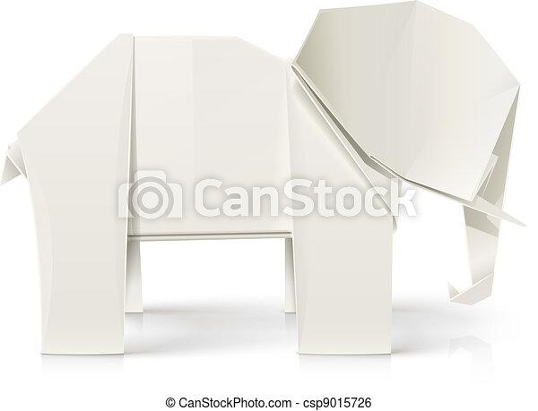 elephant origami paper toy - csp9015726