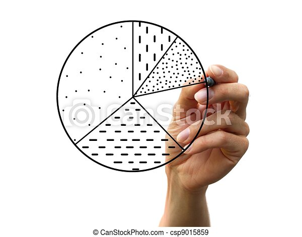 hand drawing a chart - csp9015859