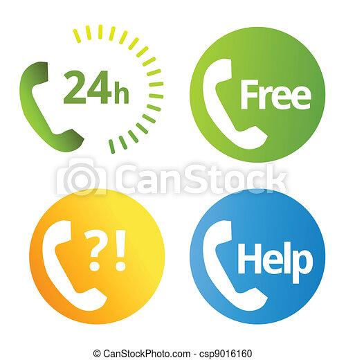 Phone services icons  - csp9016160