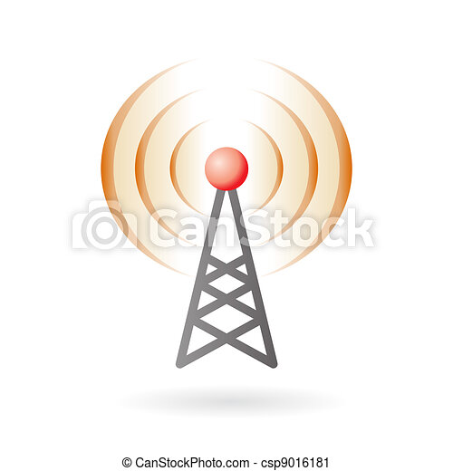 Pod-cast and broadcasting icon - csp9016181