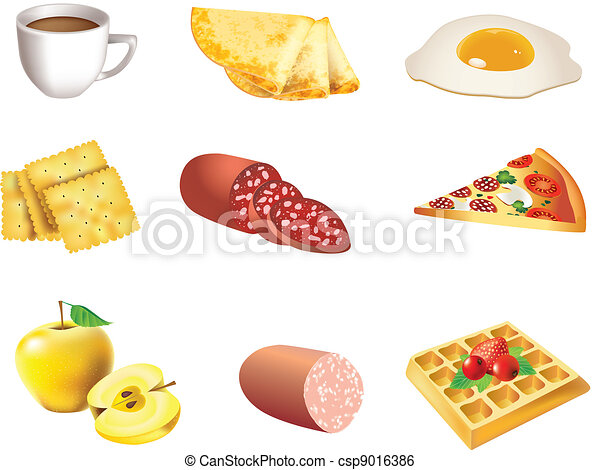 Food icon set - csp9016386