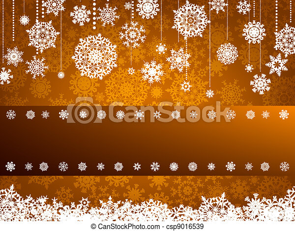 Beige christmas with snowflake. EPS 8 - csp9016539