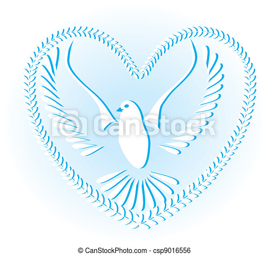 Dove symbol of peace and freedom - csp9016556