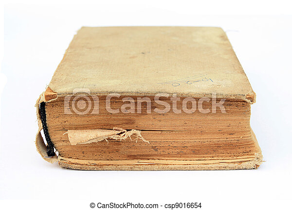 aging book on white background - csp9016654