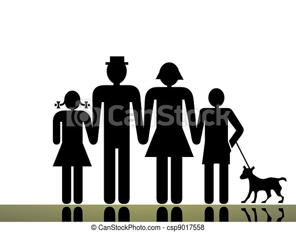 Traditional Family Clip Art