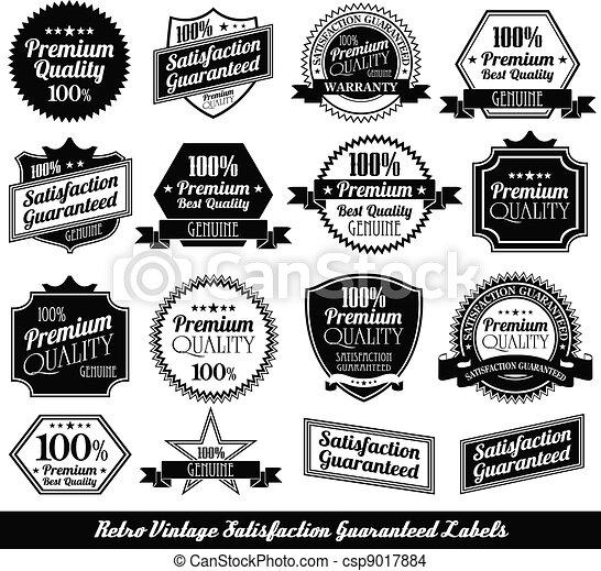 premium quality Labels with retro design - csp9017884