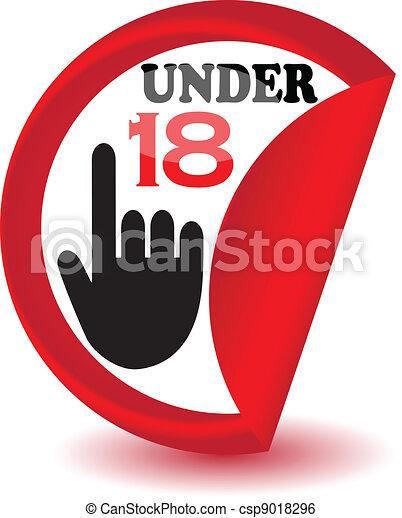Under eighteen sign.Vector - csp9018296