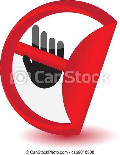 No entry sign sticker.Vector - csp9018308