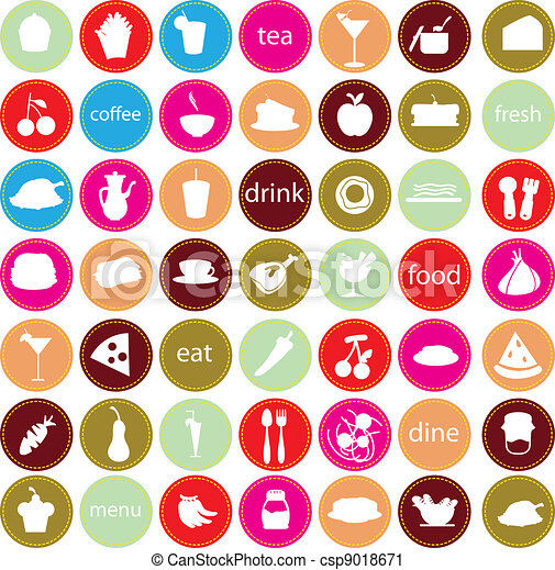 food and drinks icons - csp9018671