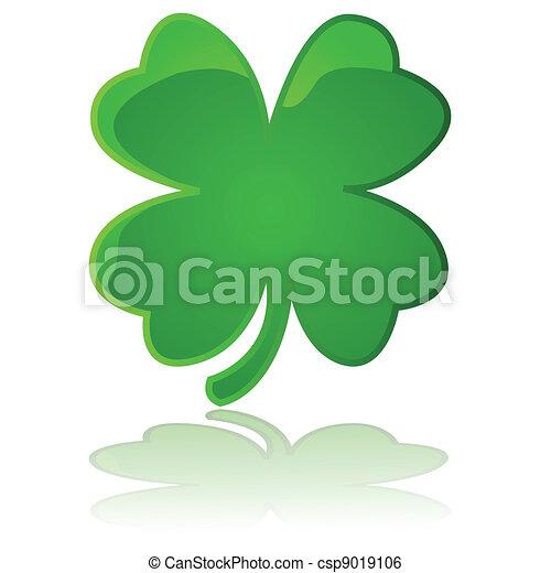 4-leaf clover - csp9019106