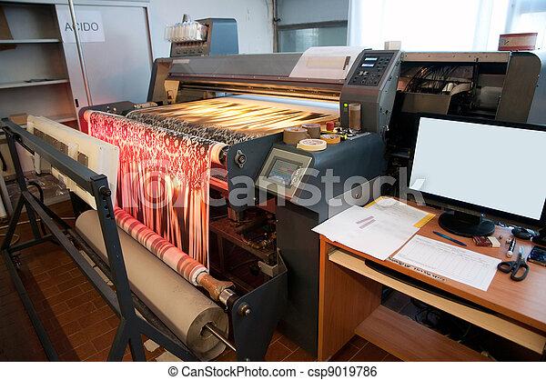 Digital textile printing - csp9019786