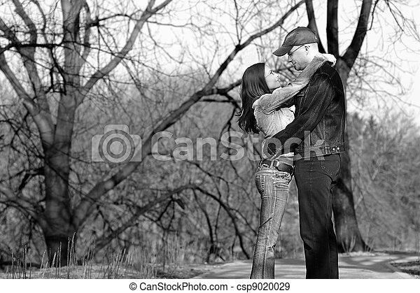 Couple in love monochrome - csp9020029