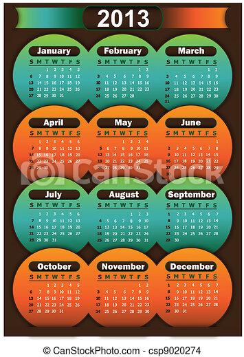 Calendar 2013 - csp9020274
