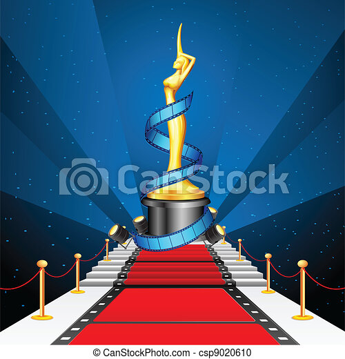 Cinema Award on Red Carpet - csp9020610
