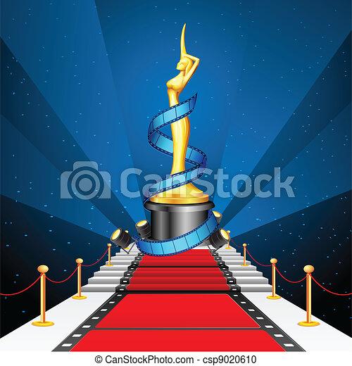 Cinema Award on Red Carpet - csp9020610