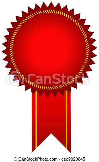 Red award seal - csp9020645