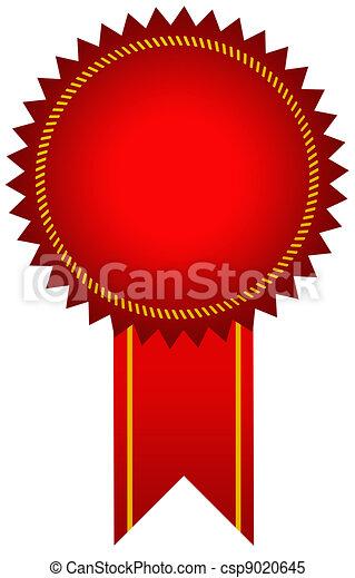 Red award seal - csp9020645