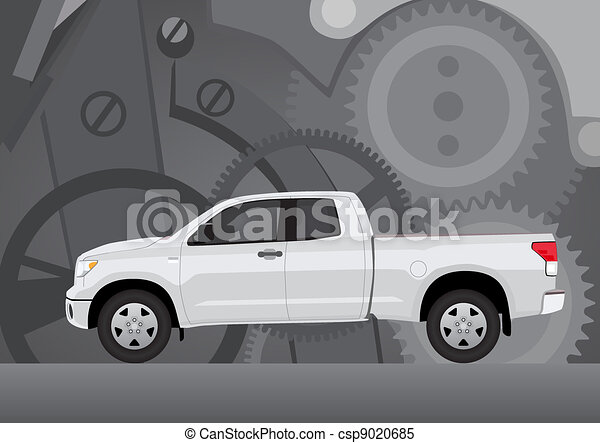 Pick-up truck with background of co - csp9020685