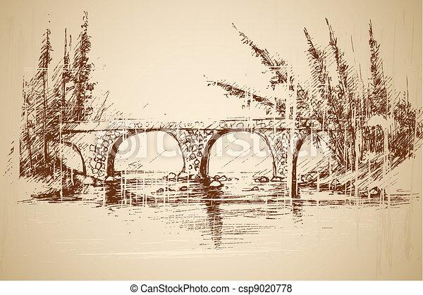 Foot Bridge in Park - csp9020778