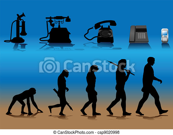 phone evolution - csp9020998