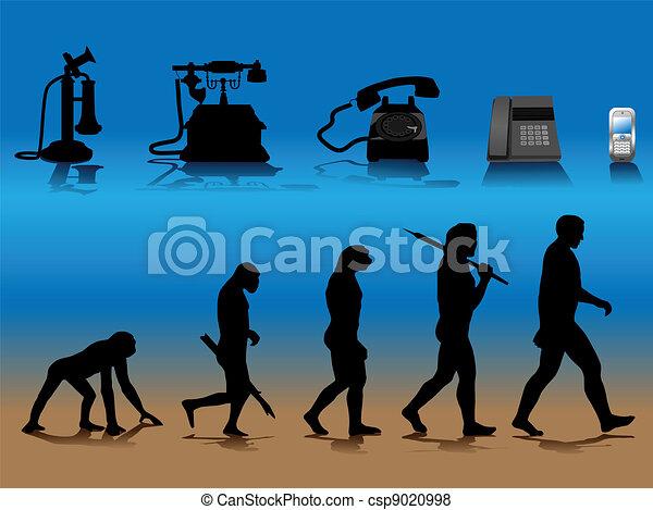 phone evolution - csp9020998
