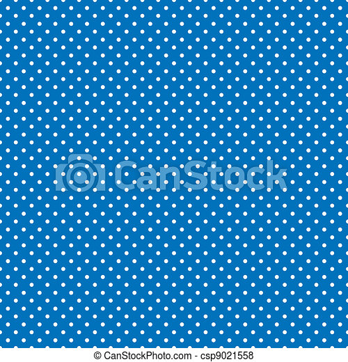 Seamless Polka Dots, Bright Blue - csp9021558