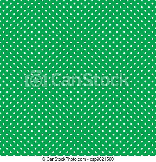 Seamless Polka Dots, Bright Green - csp9021560
