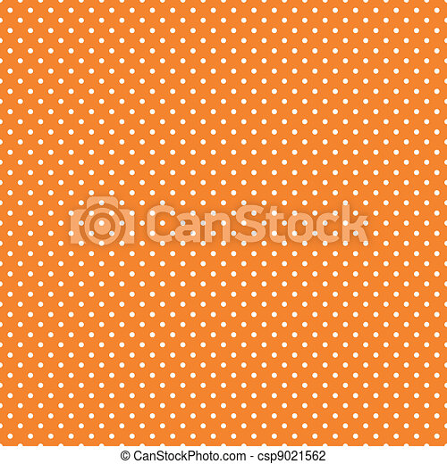 Seamless Polka Dots, Bright Orange - csp9021562