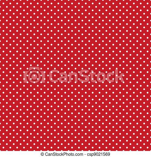 Seamless Polka Dots, Bright Red - csp9021569