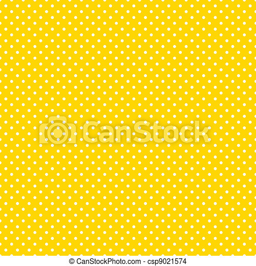 Seamless Polka Dots, Bright Yellow - csp9021574