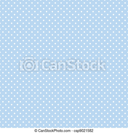 Seamless Polka Dots on Pastel Blue - csp9021582