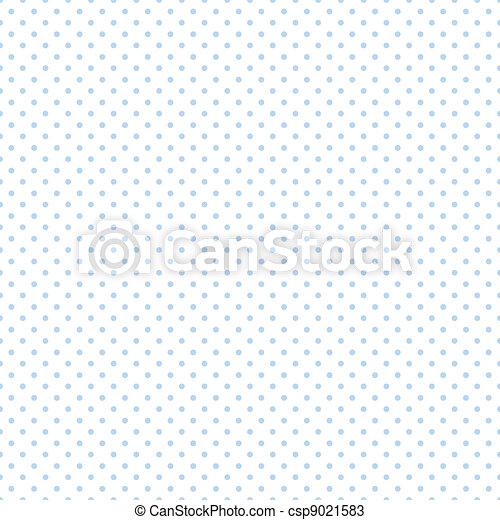 Seamless Pastel Blue Dots on White - csp9021583