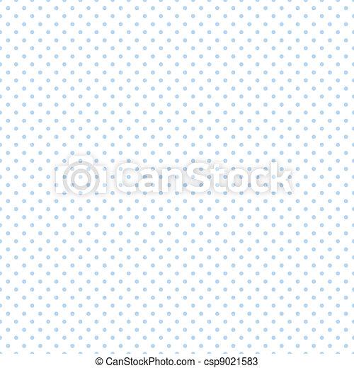 Seamless Pastel Blue Dots on White - csp9021583