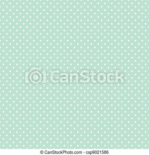 Seamless Polka Dots on Pastel Green - csp9021586