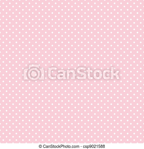 Seamless Polka Dots on Pastel Pink - csp9021588