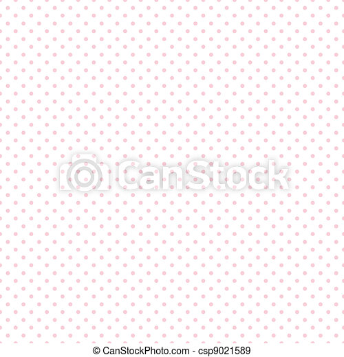 Seamless Pastel Pink Dots on White - csp9021589