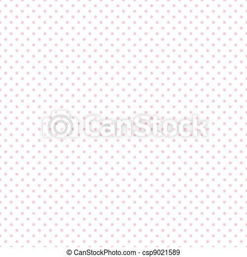 Seamless Pastel Pink Dots on White - csp9021589