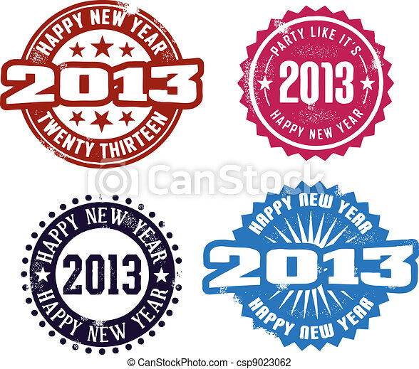 Happy New Year 2013 - csp9023062
