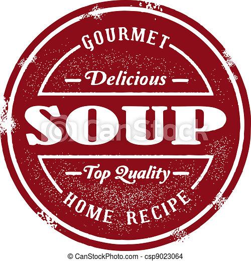 Vintage Soup Stamp - csp9023064