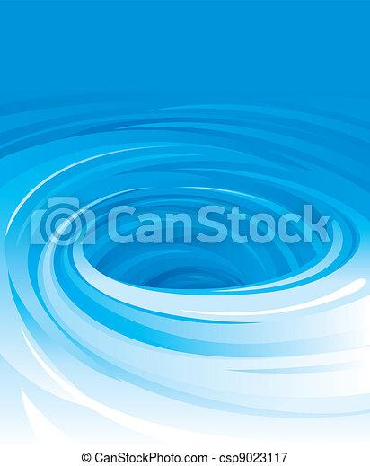 Swirling Water - csp9023117
