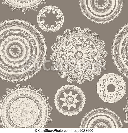 vector seamless pattern with lacy napkins - csp9023600