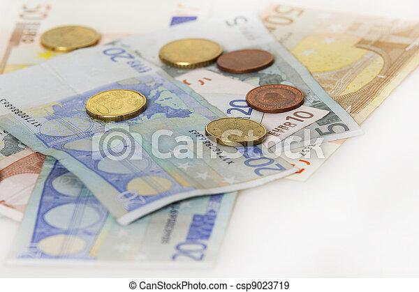 European Paper Money With Some Change - csp9023719