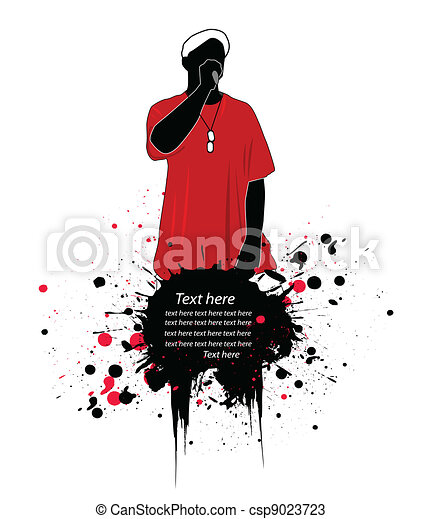 rapper vector illustration - csp9023723