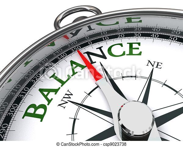 balance compass conceptual image - csp9023738