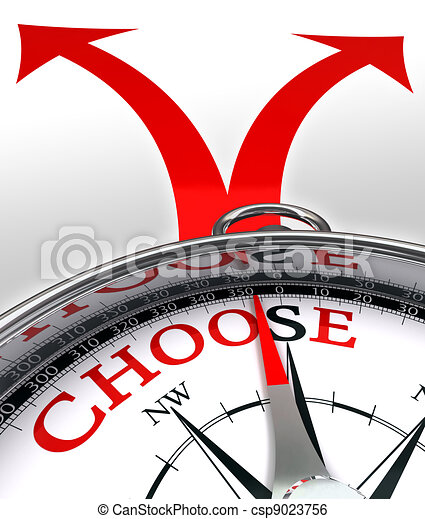 choose cross roads concept compass - csp9023756