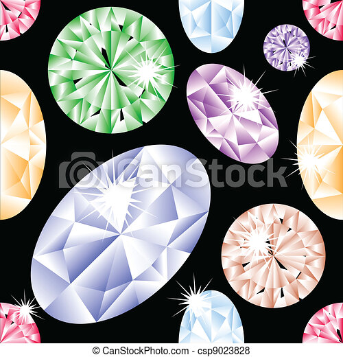 Diamond seamless pattern - csp9023828
