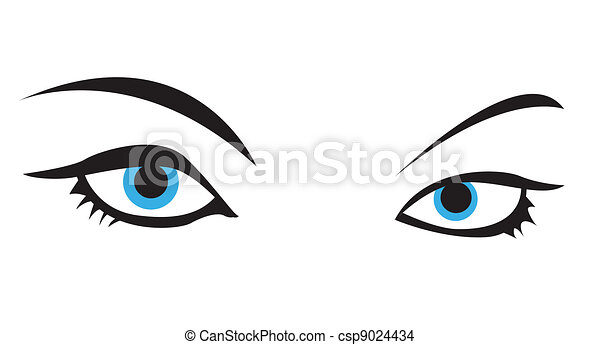 blue vector eye - csp9024434