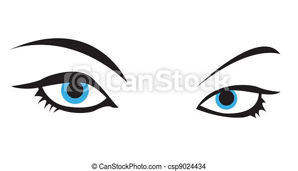 blue vector eye - csp9024434