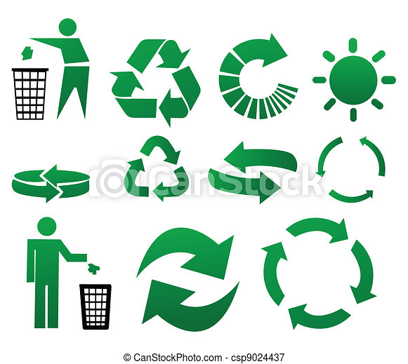 Vector recycle signs - csp9024437