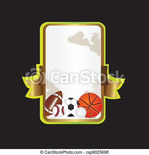 background sports label - csp9025698